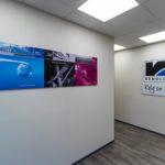 bureau - wanden - gyproc - verlichting - tegelplafond